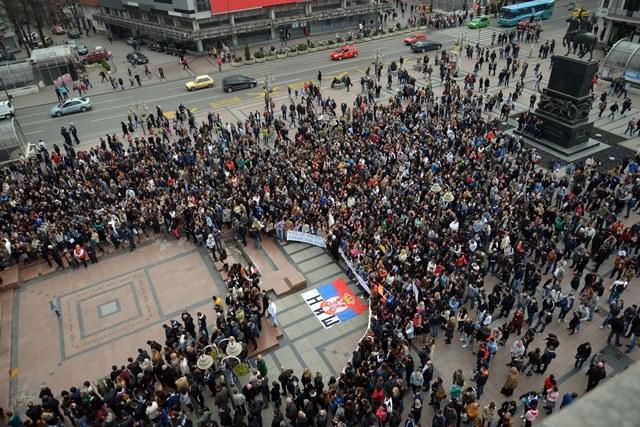 SRBIJA NIS GRADJANI PROTEST
